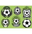 set soccer football badge logo design templates vector image