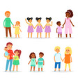 siblings children characters sister brother vector image