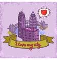 Sketch city background vector image vector image