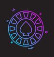 spade icon design vector image vector image