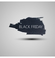 Splash grunge watercolor background Black friday vector image vector image