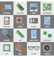 Square Computer Service Icon Set vector image