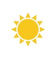 sun flat Symbol sunrise vector image