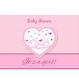 Sweet Baby Shower Invitation Card Design vector image vector image