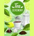 tea ceremony poster vector image vector image