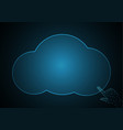 technology future point touch hand cloud vector image vector image