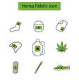 template hemp icon 2 vector image vector image