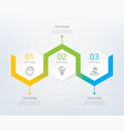 three steps infographics vector image