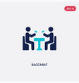 two color baccarat icon from activity and hobbies vector image vector image