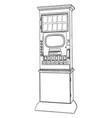 vending machine vintage vector image
