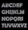 vintage doodle label font poster vector image