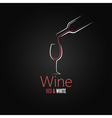 wine glass concept menu design vector image