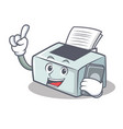 with phone printer character cartoon style vector image vector image