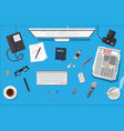 writer or journalist workplace vector image vector image