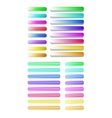Big set of semitransparent colorful buttons vector image