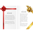 Card templates with text and colored ribbons vector image
