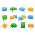 color speech bubble icons vector image