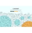 e-money Doodle Website Template Design vector image