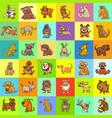 cartoon dogs pattern design vector image