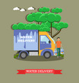 water delivery in flat style vector image