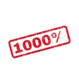 1000 Percent Text Rubber Stamp vector image vector image