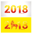 2018 new year banners vector image