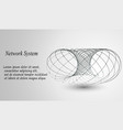 3d geometric background for business or science vector image vector image