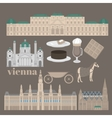 Austrian City sights in Vienna Austria Landmark vector image vector image