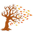autumn tree theme image 1 vector image