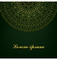 Background with round ornate vector image vector image