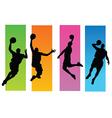Basketballer silhouettes vector image vector image