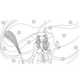 beautiful witch with a broom vector image vector image
