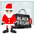 black friday shopping bag vector image vector image