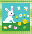 bunny and chicks vector image vector image