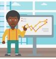 Businessman making business presentation vector image vector image