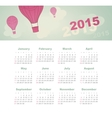 Calendar 2015 year with kite vector image