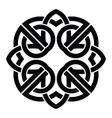 celtic knot abstract decorative ornament vector image vector image