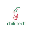 chili pepper technology element design template vector image