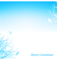 christmas background with silhouette trees and vector image vector image