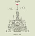church of st joseph in krakow vector image vector image