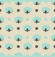 cotton flower floral seamless pattern background vector image