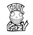 crazy smile vector image vector image