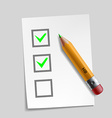 customer survey check mark design vector image