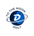 digibyte badge concept digital asset dgb to the vector image