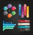 digital business infographic design vector image vector image