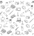 doodle seamless pattern with art pictures vector image vector image