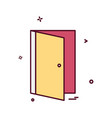 door icon design vector image