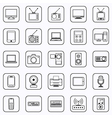 Electronic contour icons vector image vector image