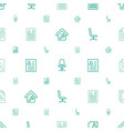 employment icons pattern seamless white background vector image vector image