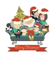 Family celebrating Christmas vector image vector image